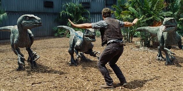 Jurassic World Raptors Scene